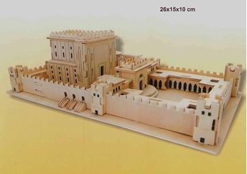דגם בית המקדש להרכבה מעץ
