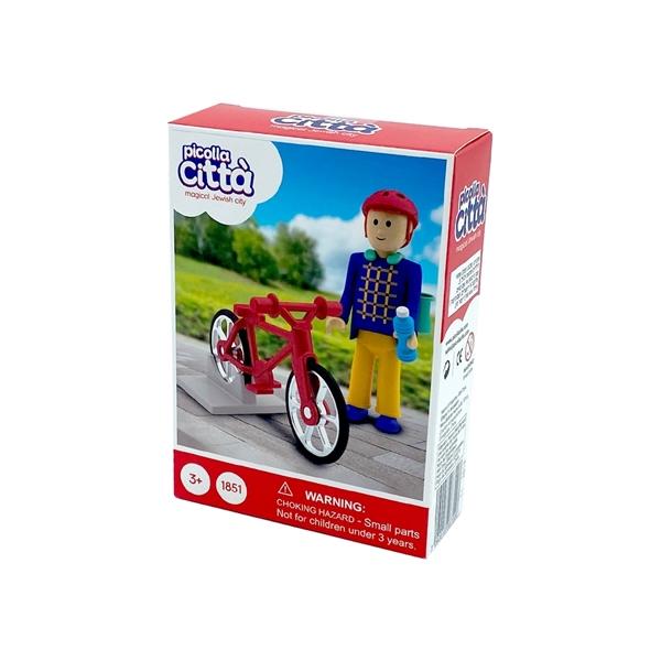 תמונה של דמויות יהודיות - ילד ואופניים