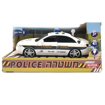 תמונה של מכונית משטרה